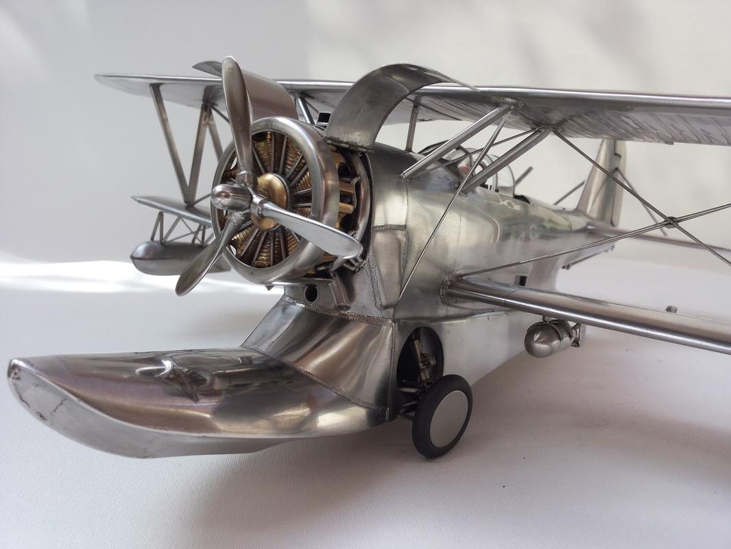 Grumman J2f 5 Duck Stainless Steel Airplane Stainless Steel Fine